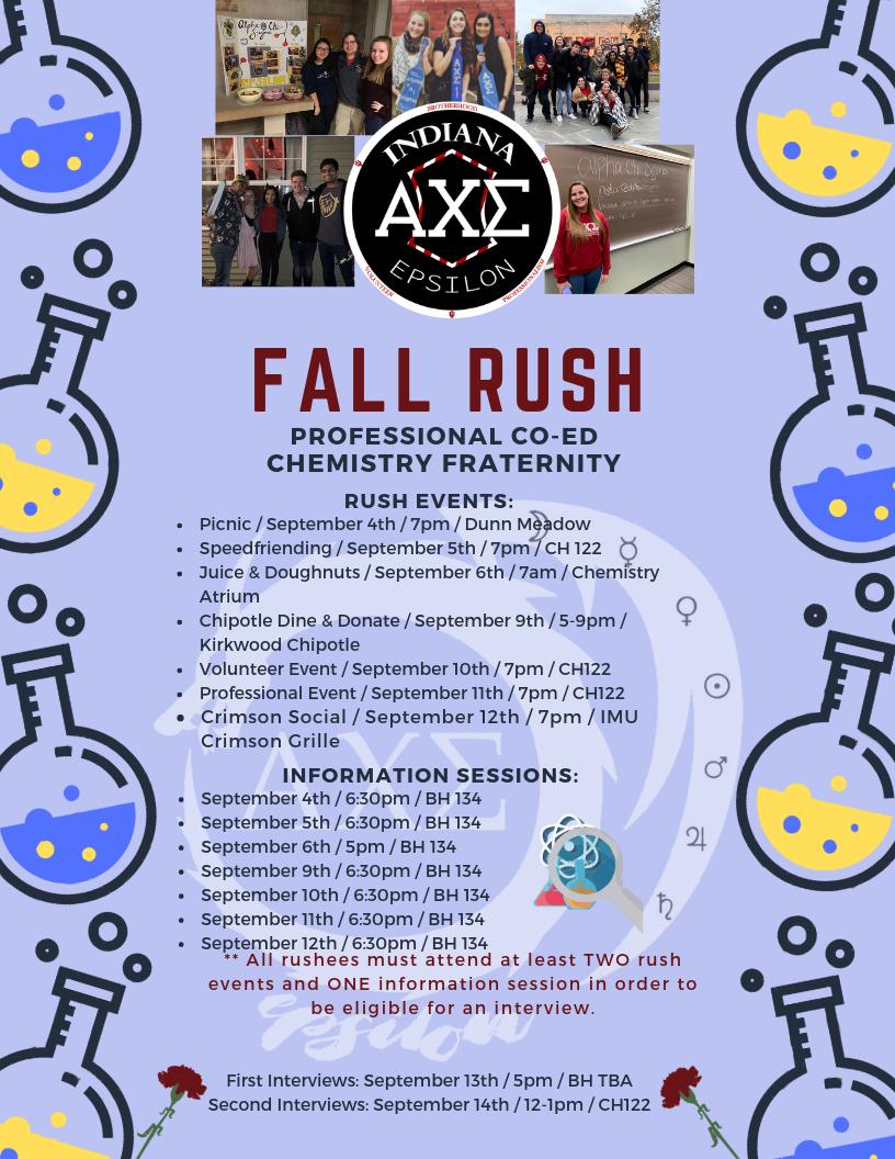 Alpha Chi Sigma - Fall Rush 2019